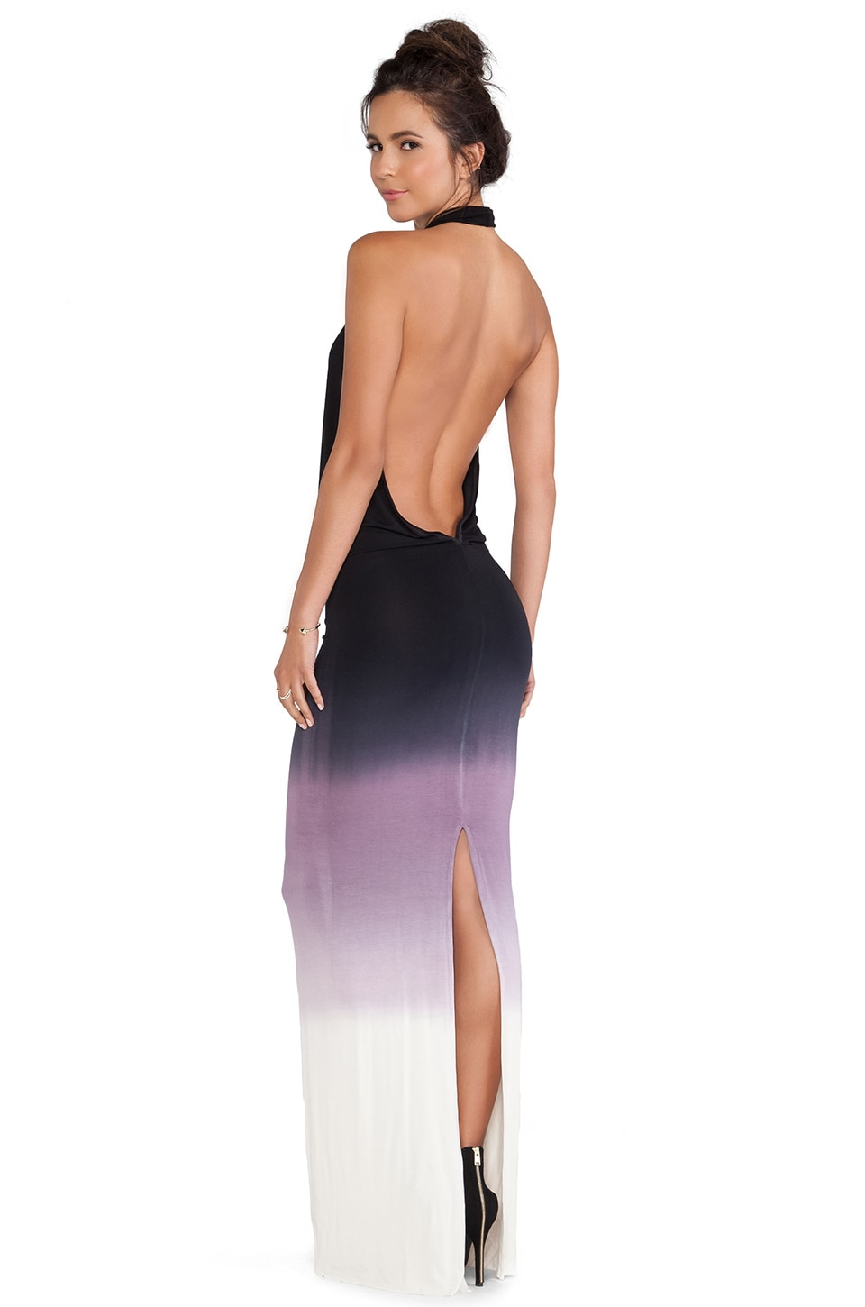 Young, Fabulous & Broke Benette Maxi Dress in Black & Purple Ombre
