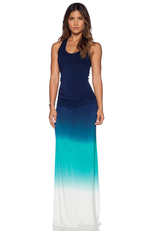 Young, Fabulous & Broke Hamptons Maxi Dress in Green & Navy Ombre