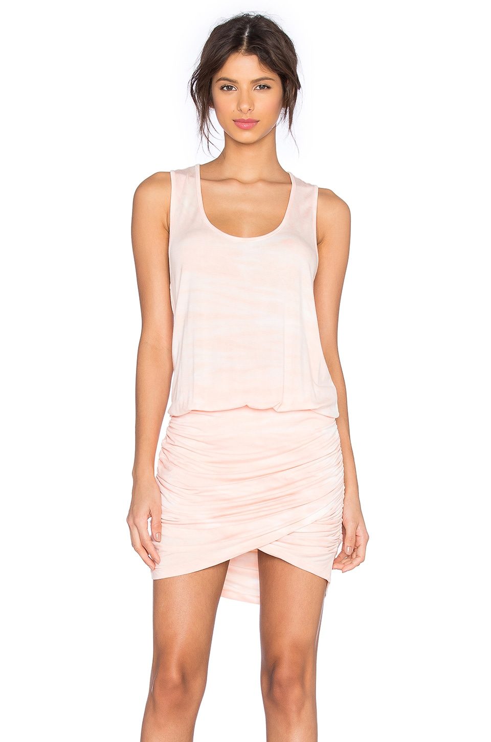 Young, Fabulous & Broke Elise Dress in Melon Ripple Wash
