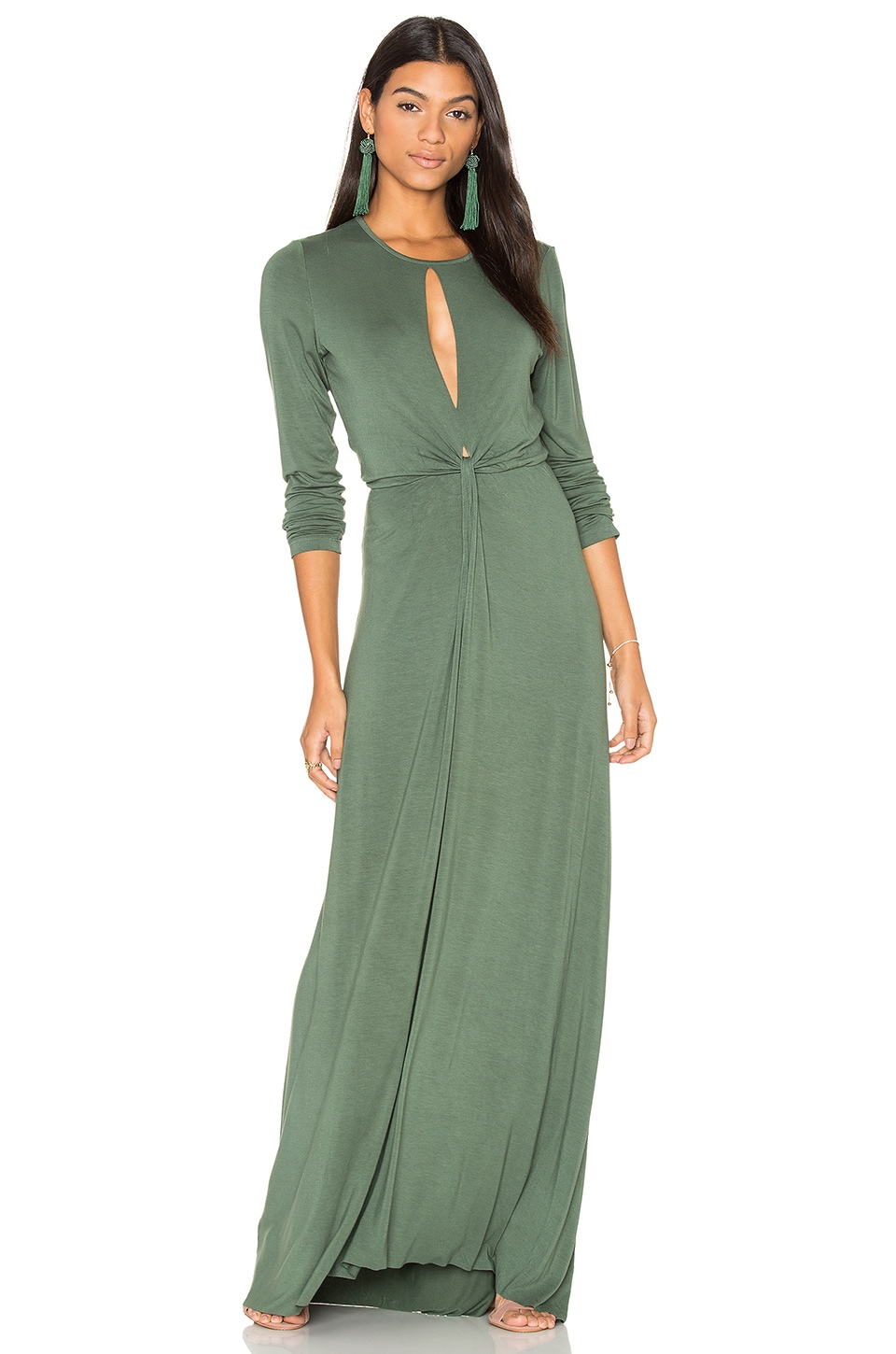 Young, Fabulous & Broke Mariel Dress in Hunter Green
