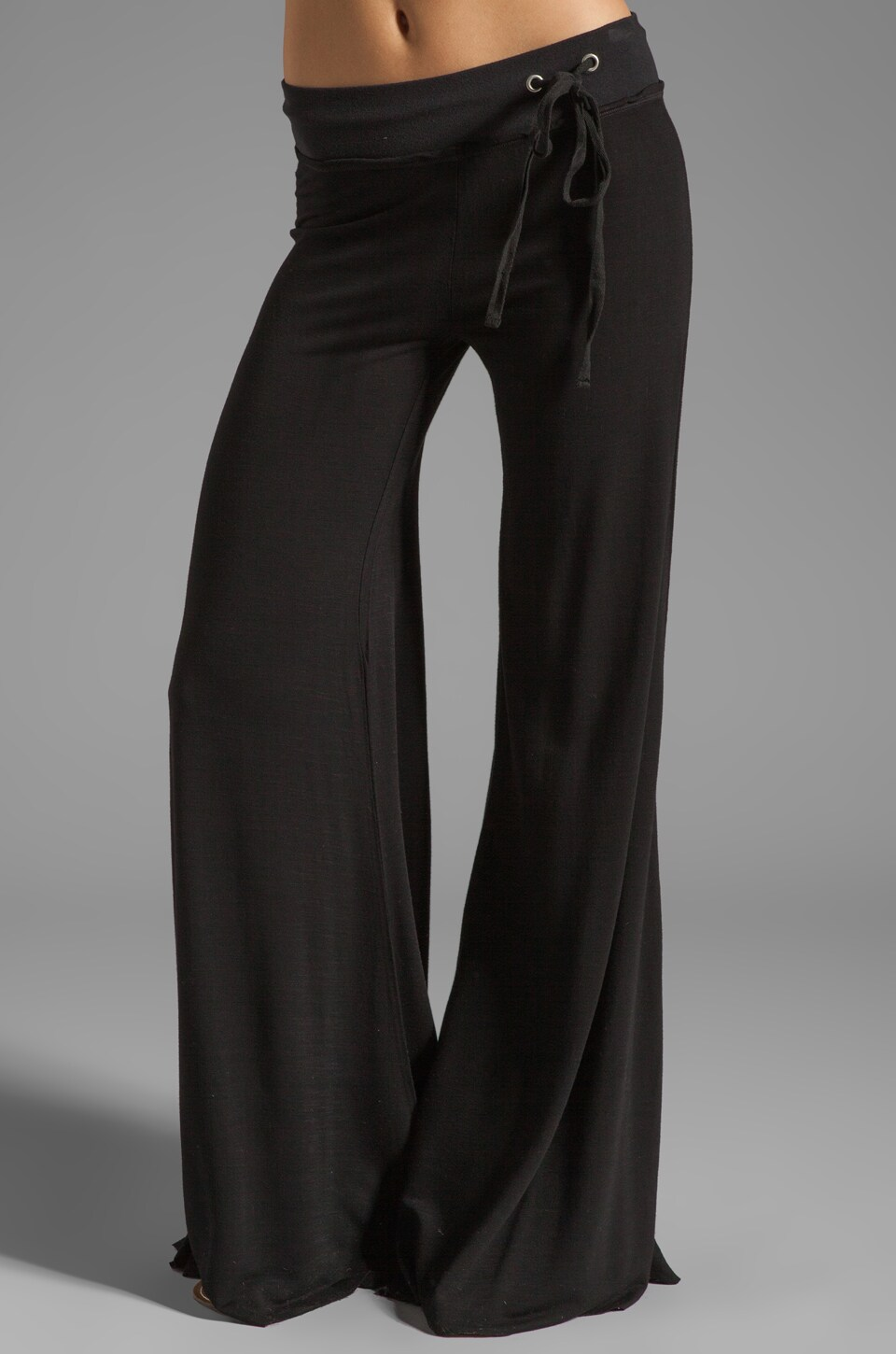 Young, Fabulous & Broke Wide Leg Pant in Black