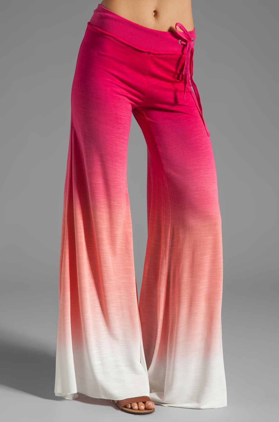 Young, Fabulous & Broke Wide Leg Pant in Fuchsia Sunset Ombre