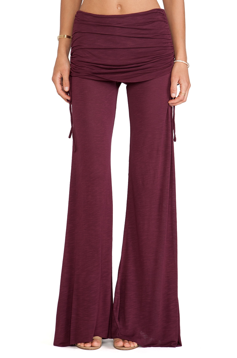 Young, Fabulous & Broke Sierra Pant in Wine