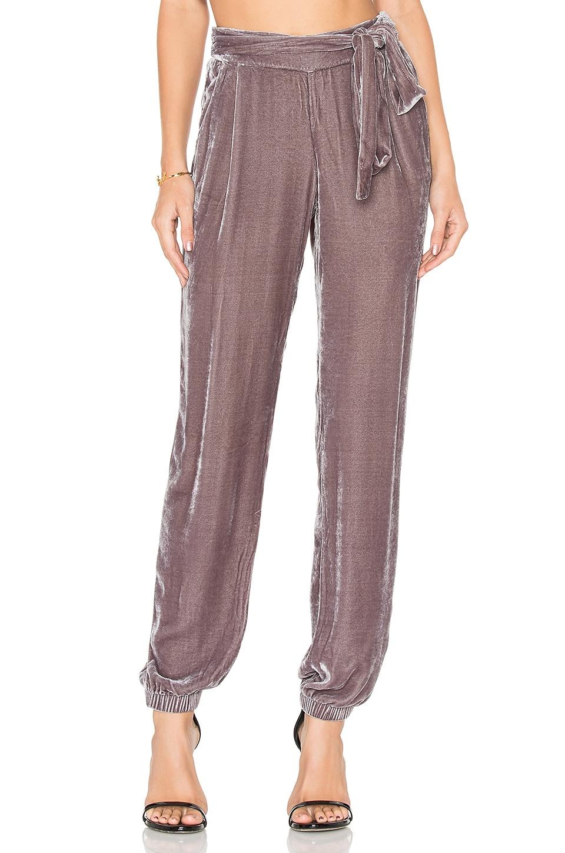 Young, Fabulous & Broke Ciarra Velvet Pant in Mid Grey