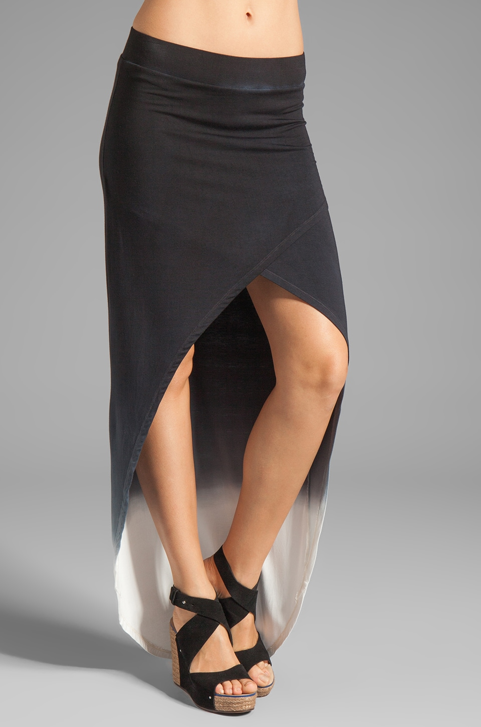 Young, Fabulous & Broke Tyler Ombre Skirt in Black