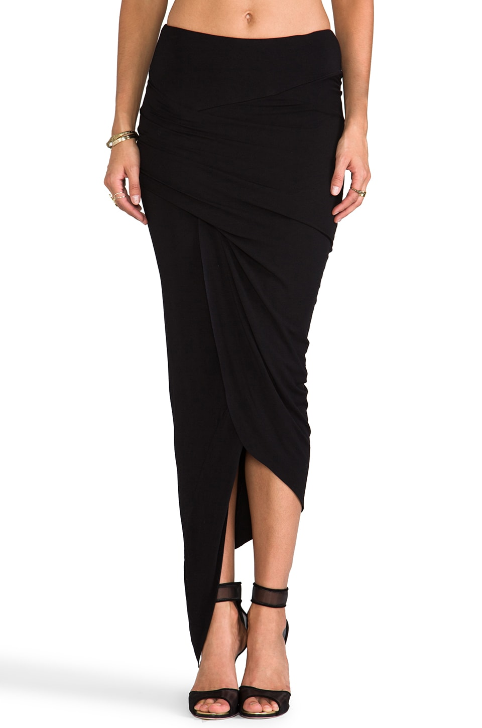 Young, Fabulous & Broke Sassy Skirt in Black
