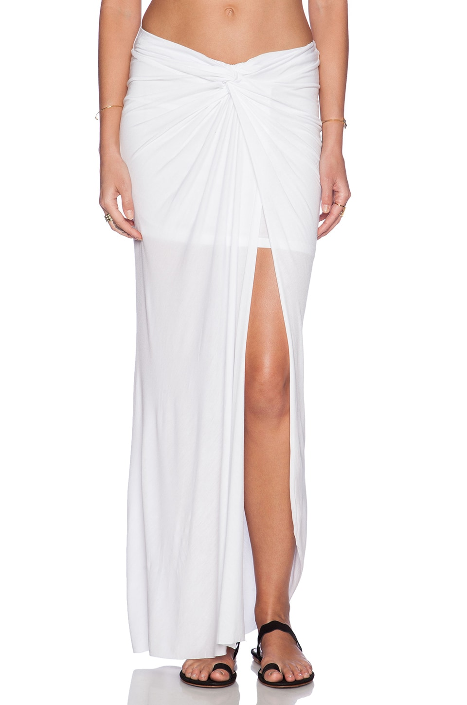 Young, Fabulous & Broke Kulani Maxi Skirt in Solid White | REVOLVE
