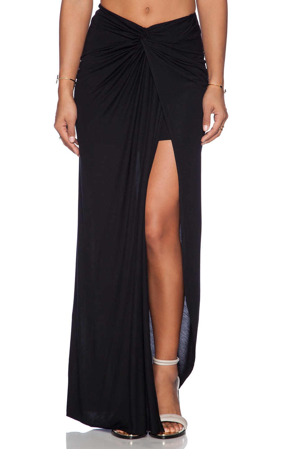 Young, Fabulous & Broke Kulani Maxi Skirt in Solid Black