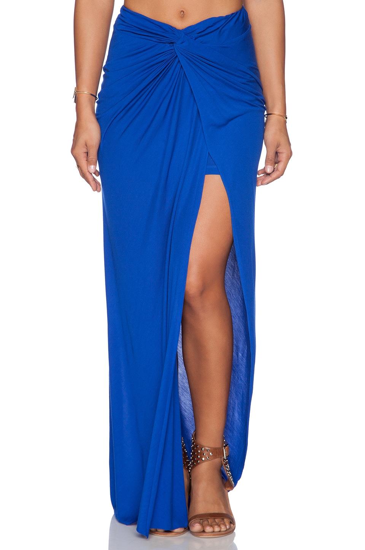 Young, Fabulous & Broke Kulani Maxi Skirt in Solid Blue