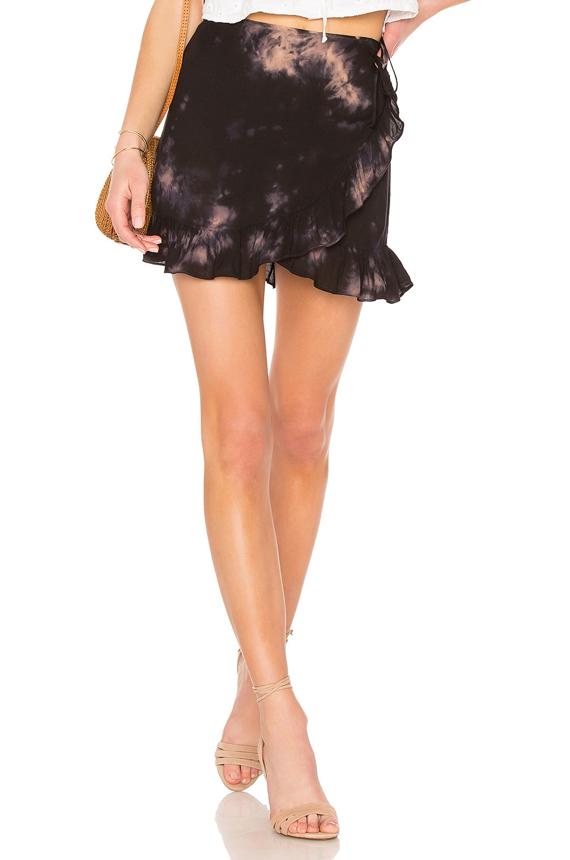 Young, Fabulous & Broke Flutter Skirt in Dark Moonlight Ocean Spray Wash