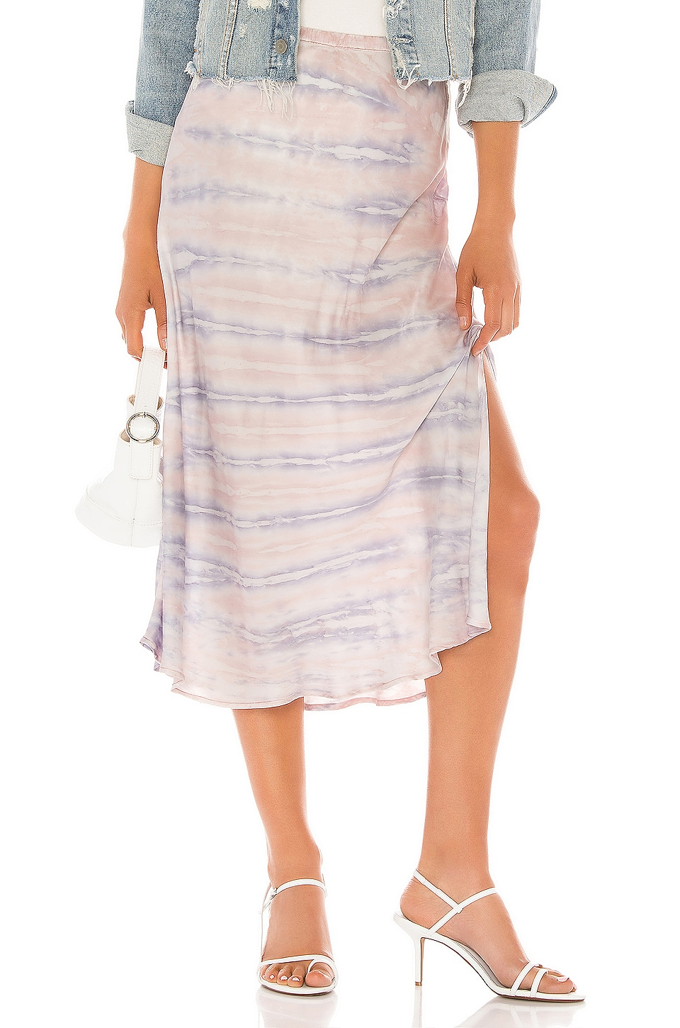 Young, Fabulous & Broke Felicity Skirt in Lilac Ikat Wash