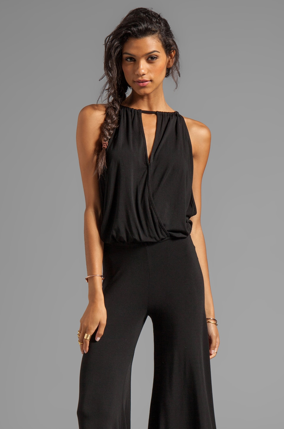 Young, Fabulous & Broke Dyna Jumpsuit in Black