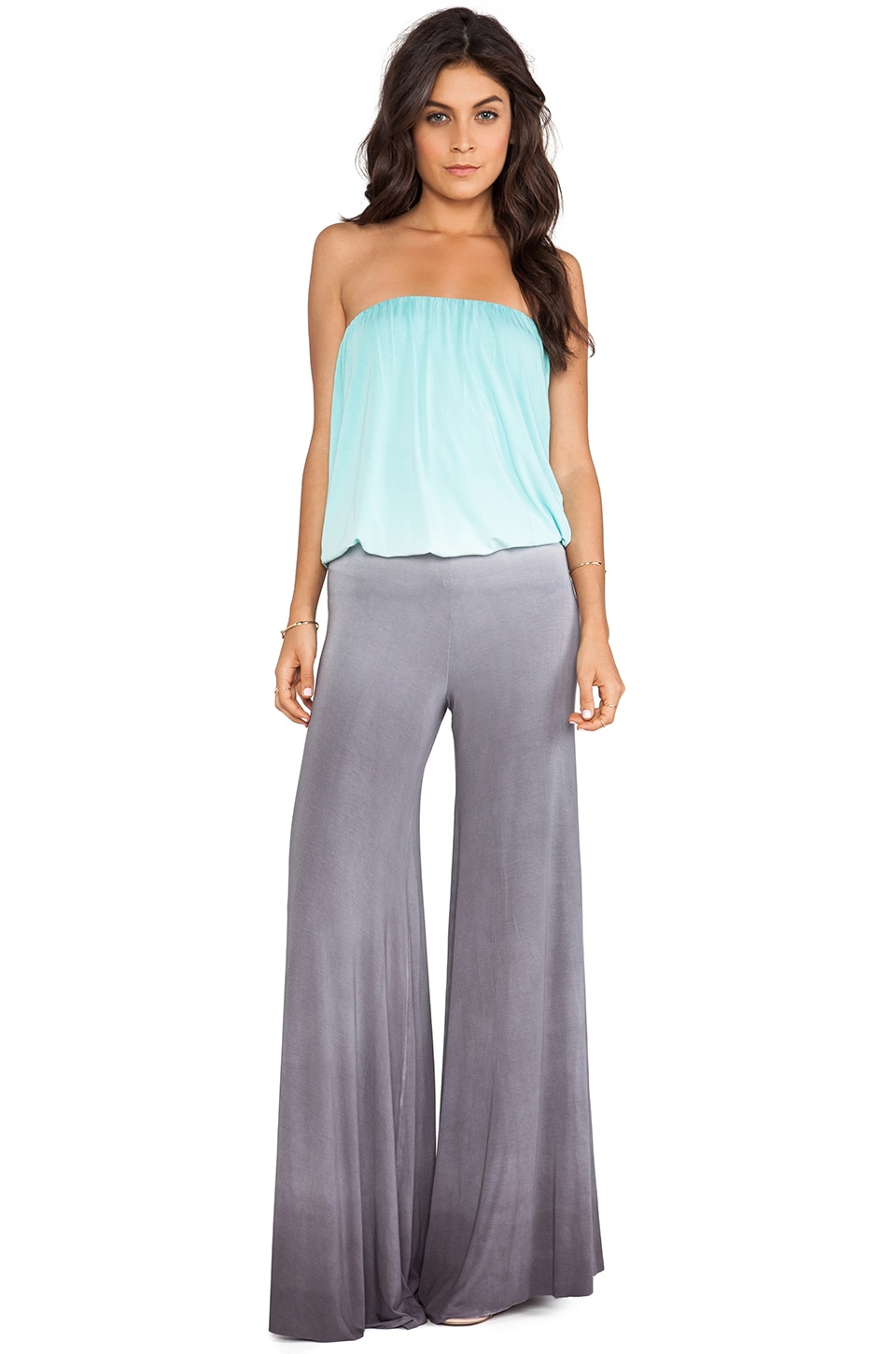 Young, Fabulous & Broke Sydney Jumpsuit in Aqua & Grey Ombre