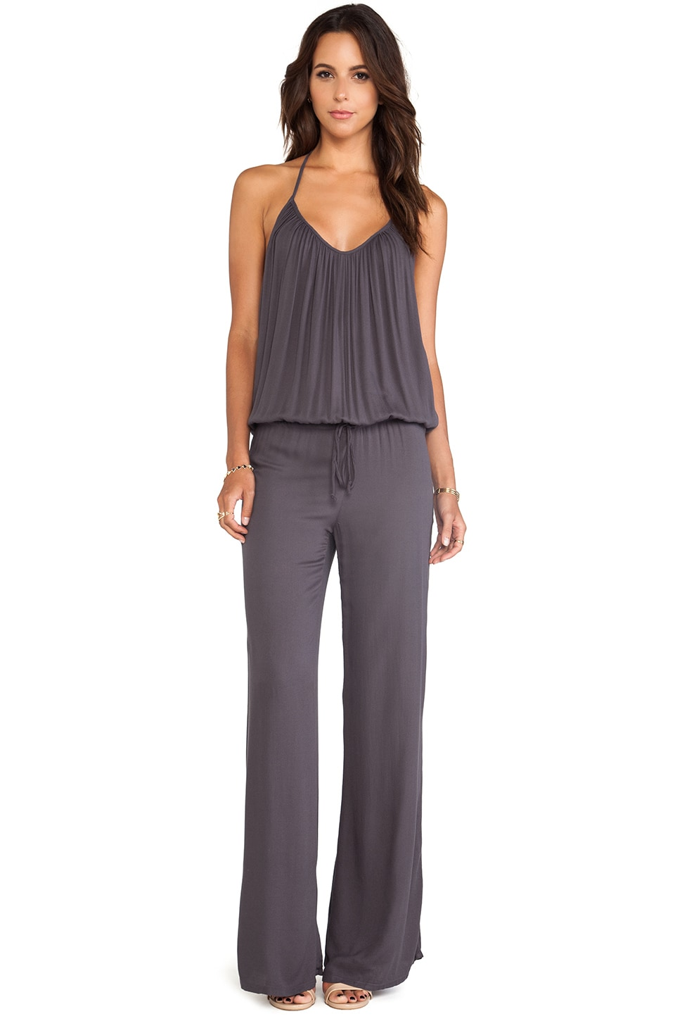 Young, Fabulous & Broke Jared Jumpsuit in Charcoal