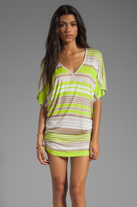 Young, Fabulous & Broke Trish Cabana Stripe Tunic in Lime