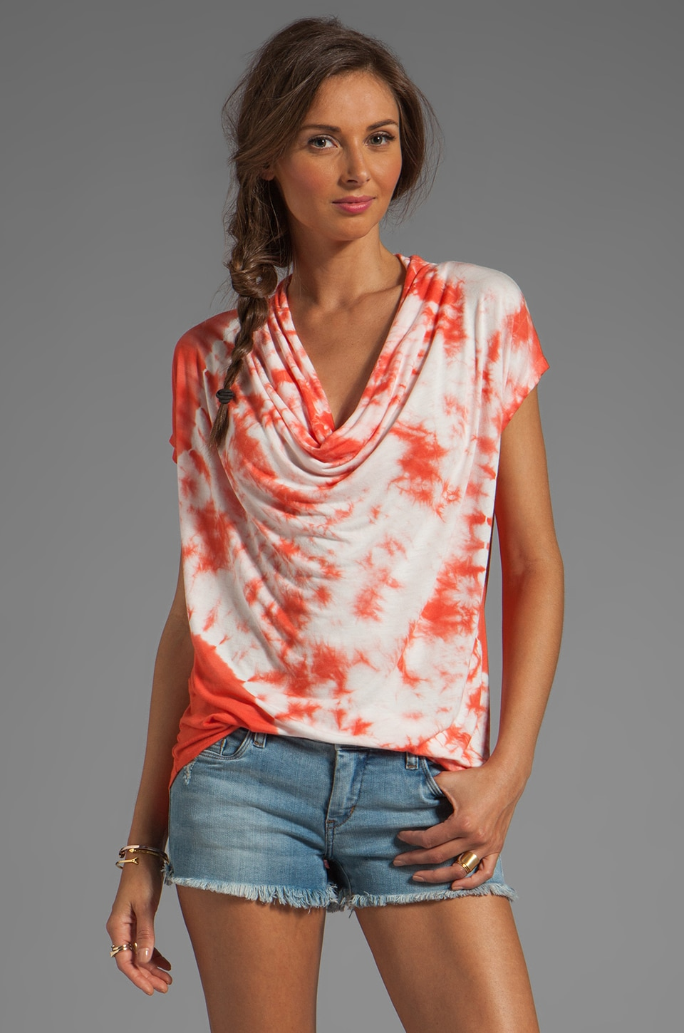 Young, Fabulous & Broke Shay Eclipse Wash Top in Fire