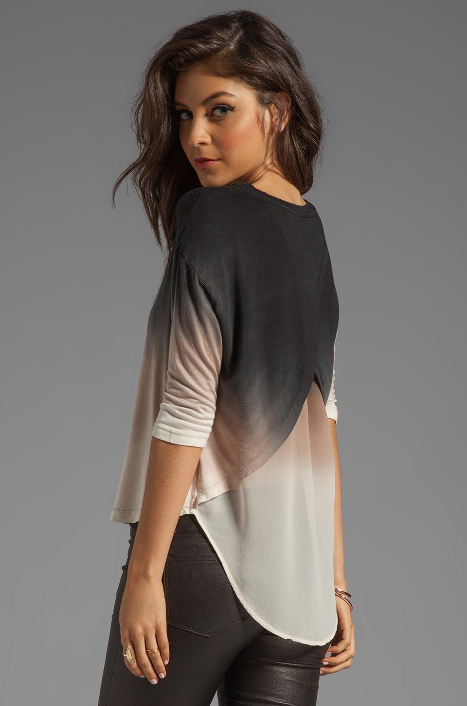 Young, Fabulous & Broke Britt Ombre Top in Black