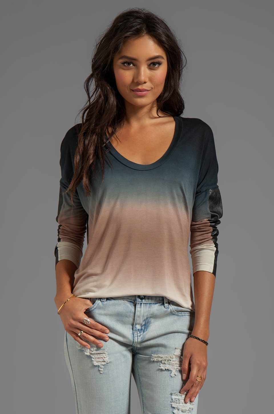 Young, Fabulous & Broke Harley Ombre Top in Black