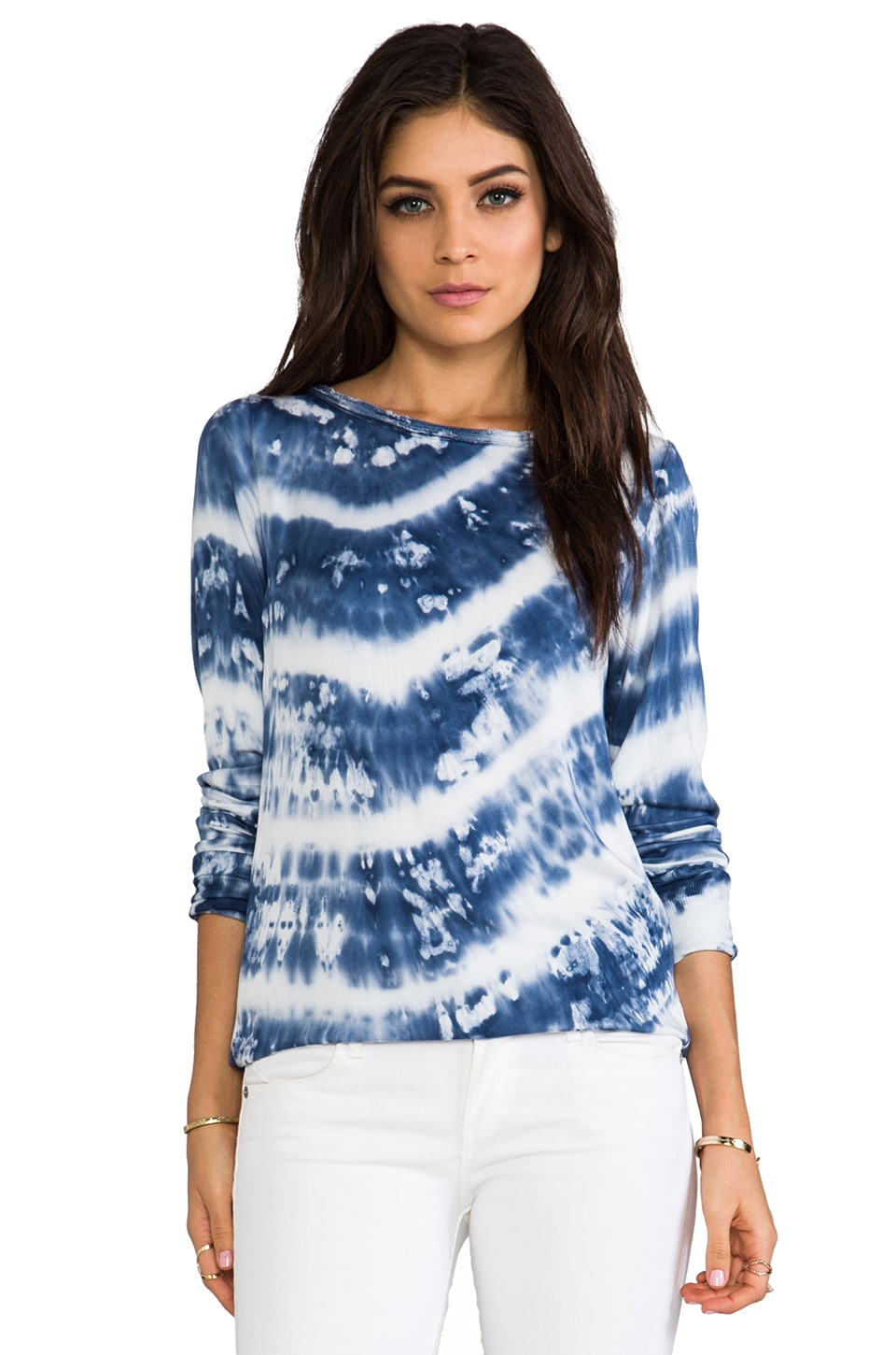 Young, Fabulous & Broke Joi Diagonal Wash Top in Marine