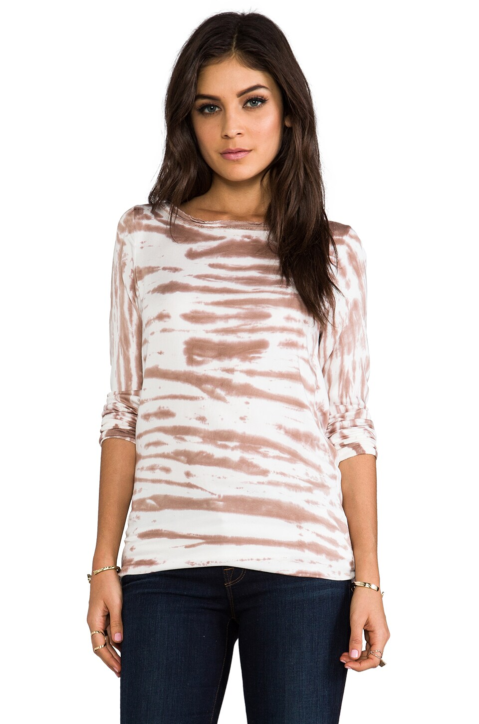 Young, Fabulous & Broke Joi Sketchy Stripe Top in Oat