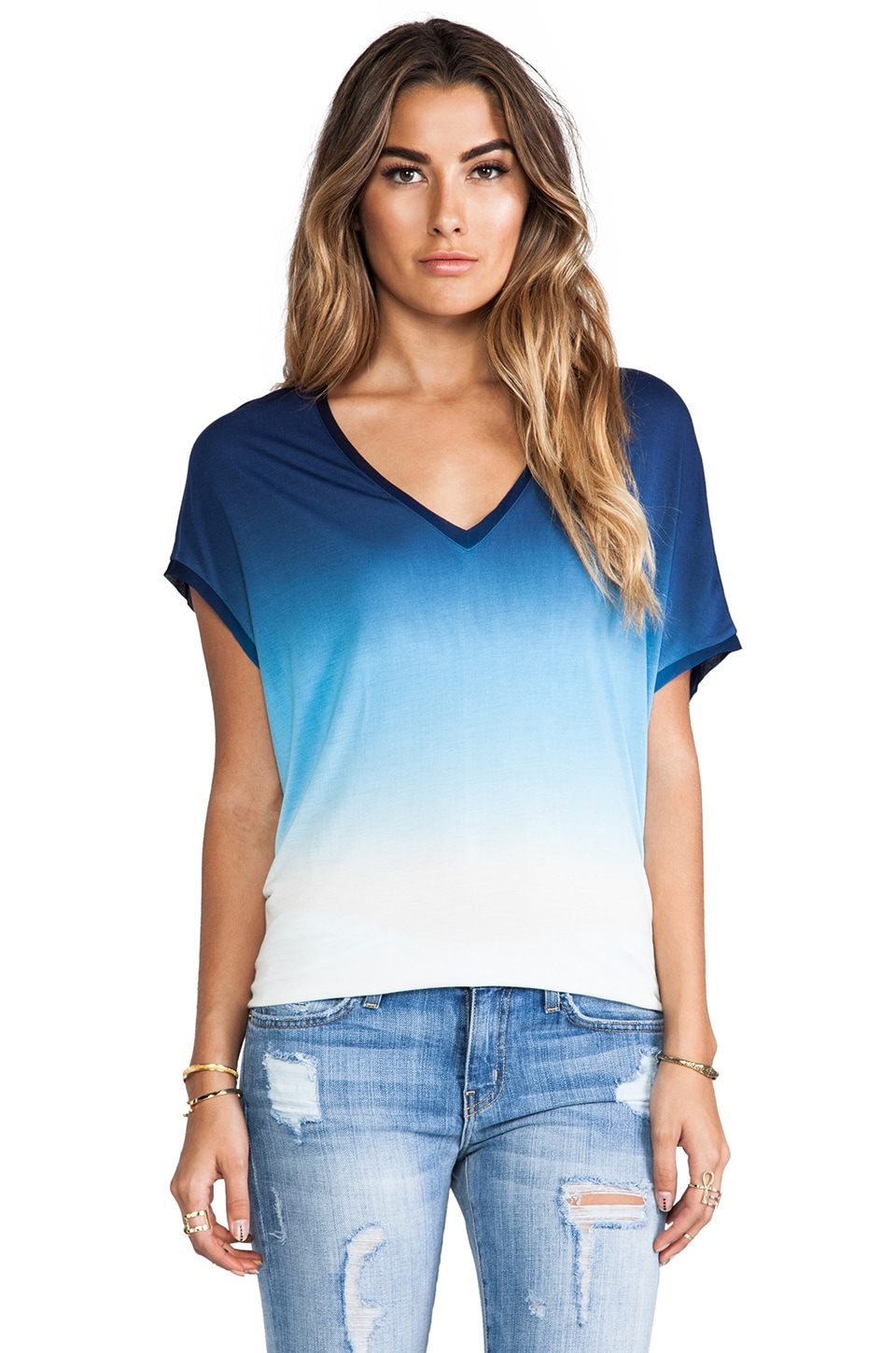 Young, Fabulous & Broke Ripley Top in Navy Ombre