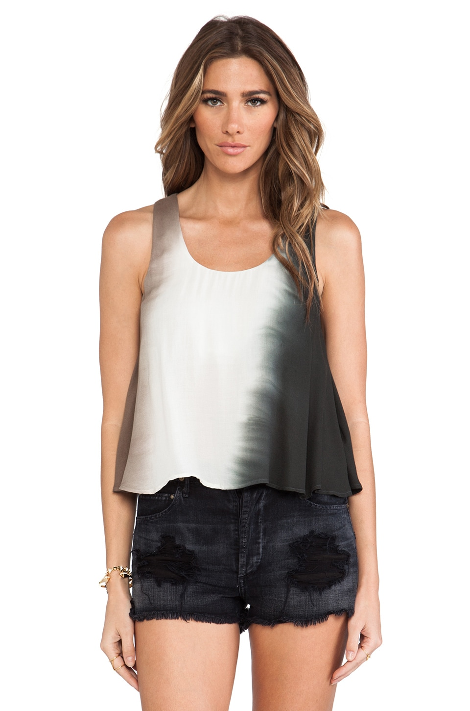 Young, Fabulous & Broke Pierce Tank in Olive Ombre