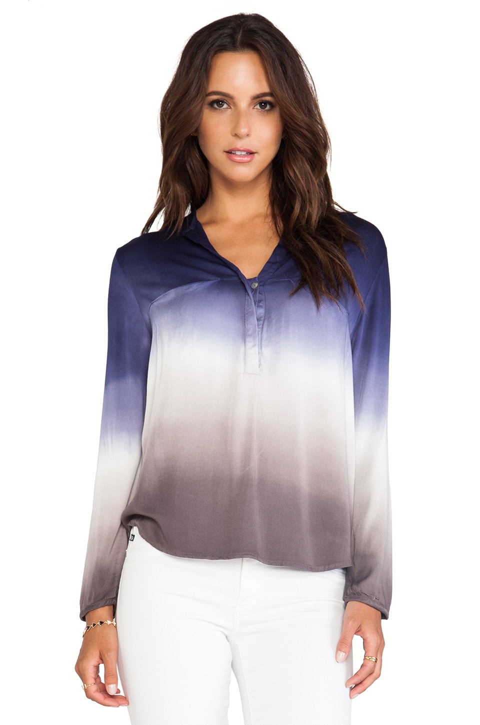Young, Fabulous & Broke Hayes Top in Portabello Navy Ombre