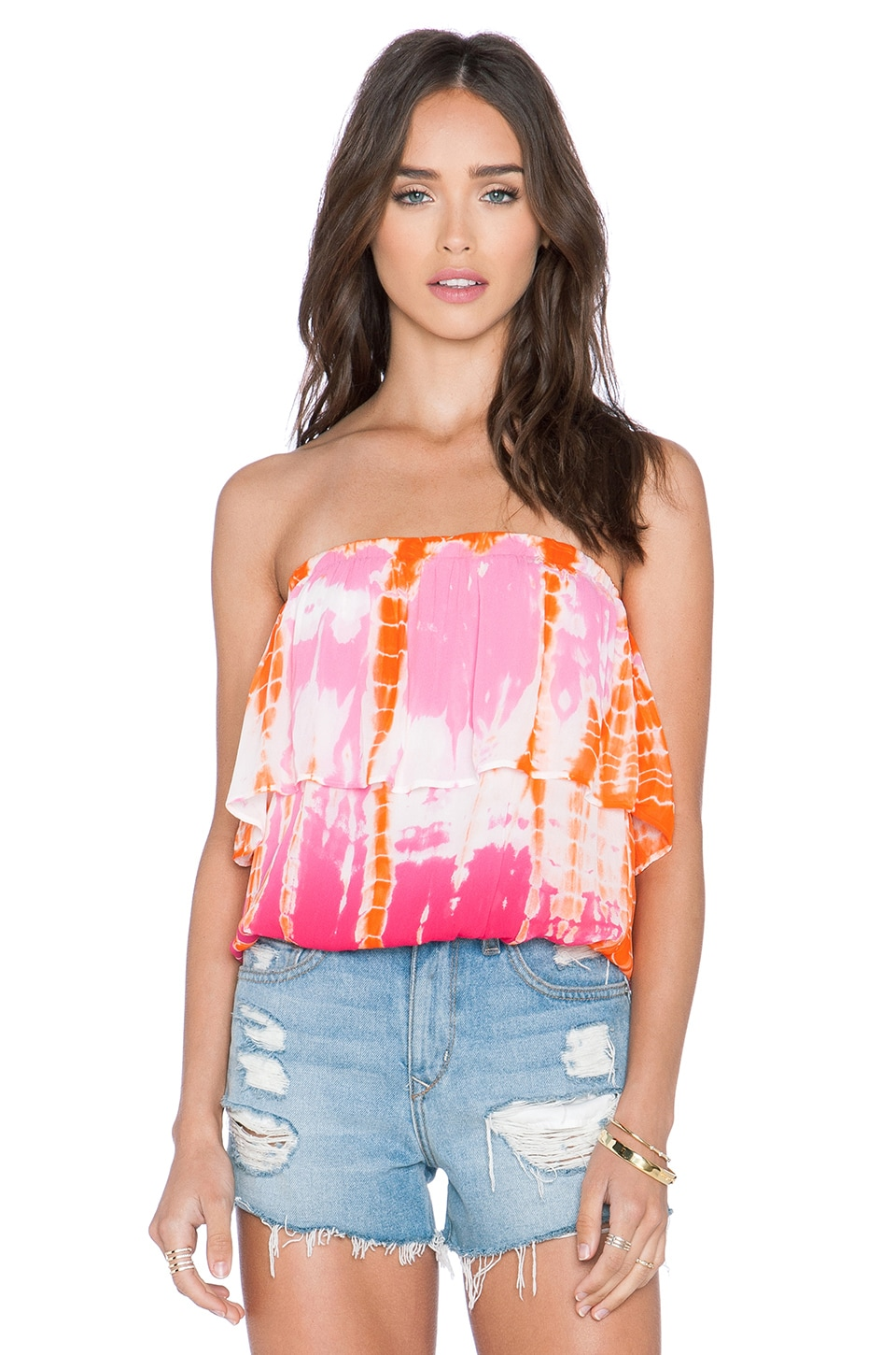 Young, Fabulous & Broke Oceanside Top in Pink Rain Ombre