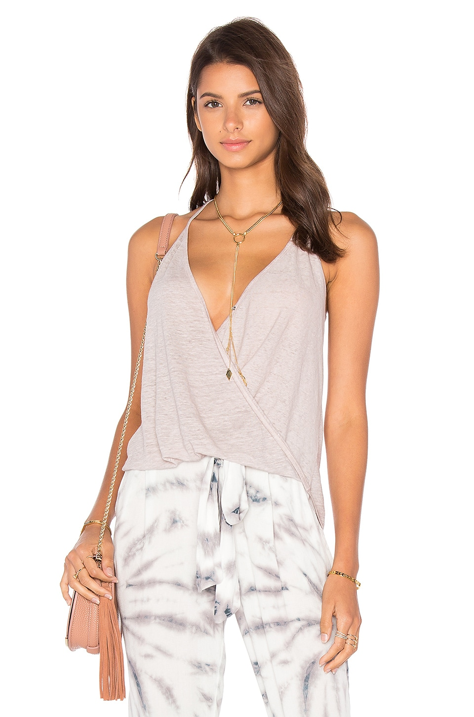 Young, Fabulous & Broke Naomi Tank in Blush