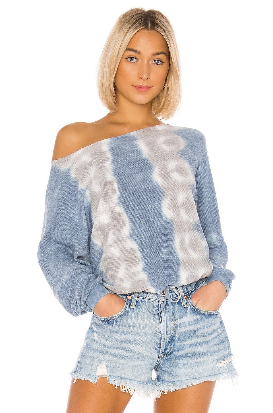 Young, Fabulous & Broke Knox Top in Sky Frequency Wash