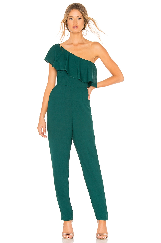 Yumi Kim Cascade Jumpsuit in Jewel Emerald