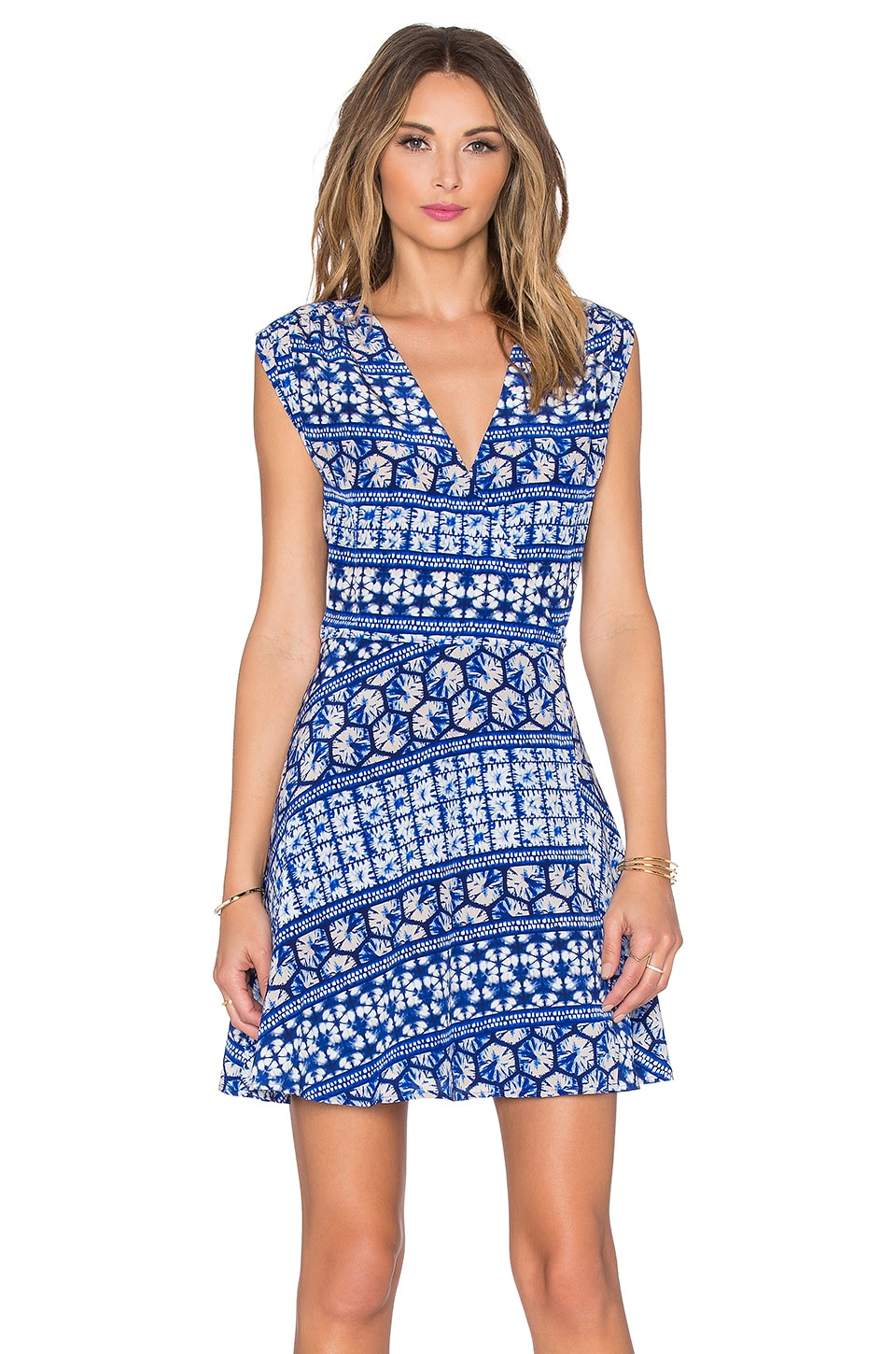 Yumi Kim Soho Mixer Dress in Blue Kaleidoscope