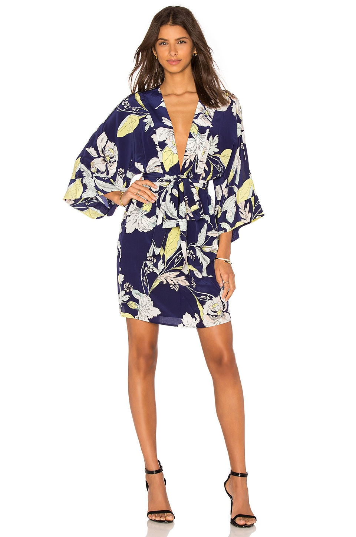 8f3ad5f83642 Yumi Kim Kyoto Dream Kimono Dress in Eastern Garden Navy | REVOLVE