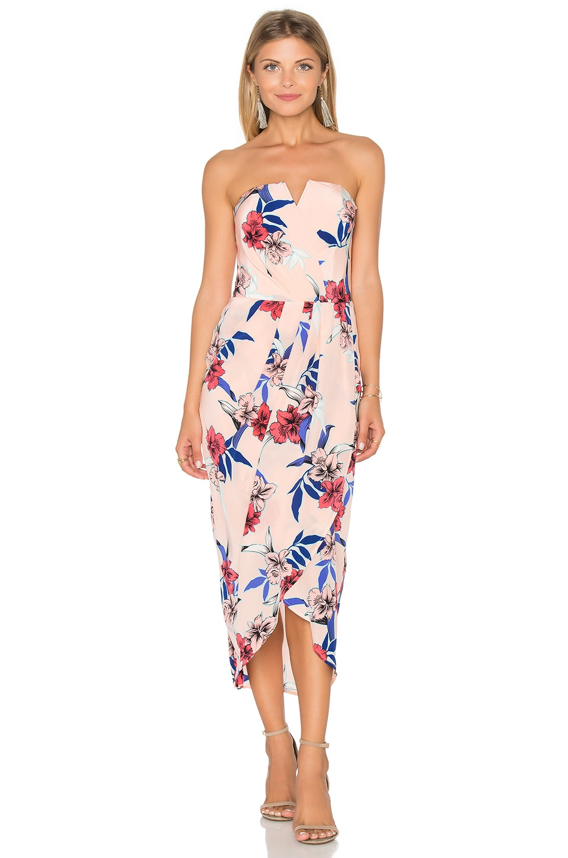 6b58a4fa6144 Yumi Kim Glamour Night Midi Dress in Maui Escape | REVOLVE