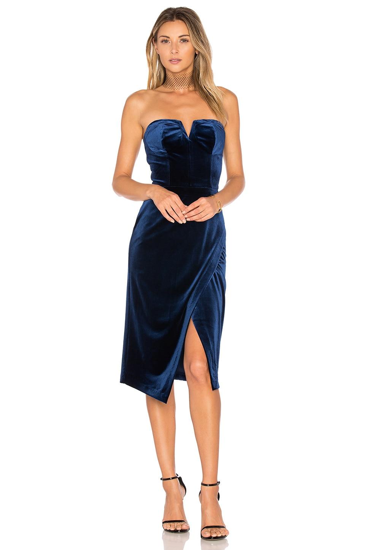 Yumi Kim Velvet Allure Dress in Navy