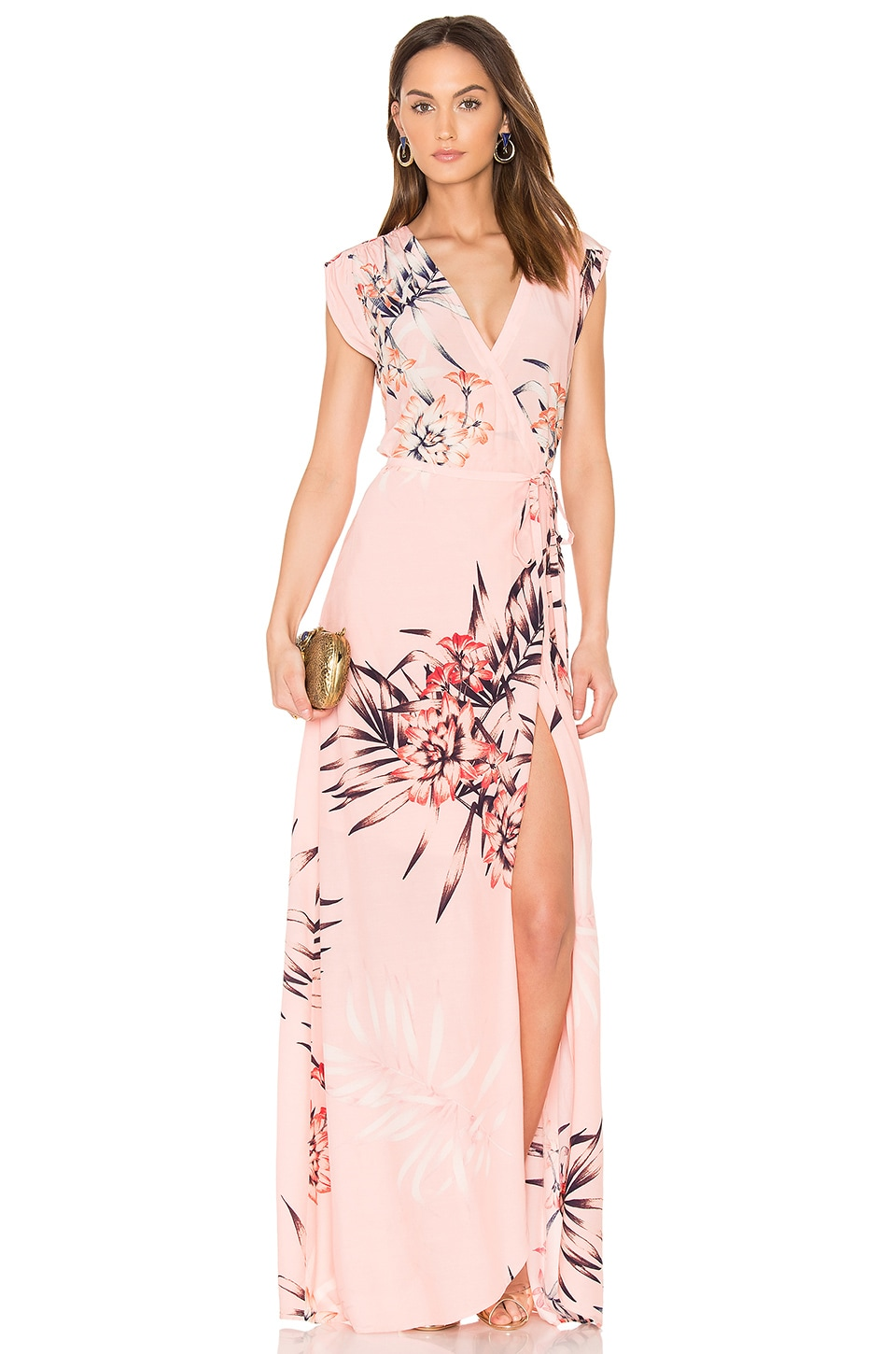 Yumi Kim Swept Away Maxi Dress in Tropical Tonic