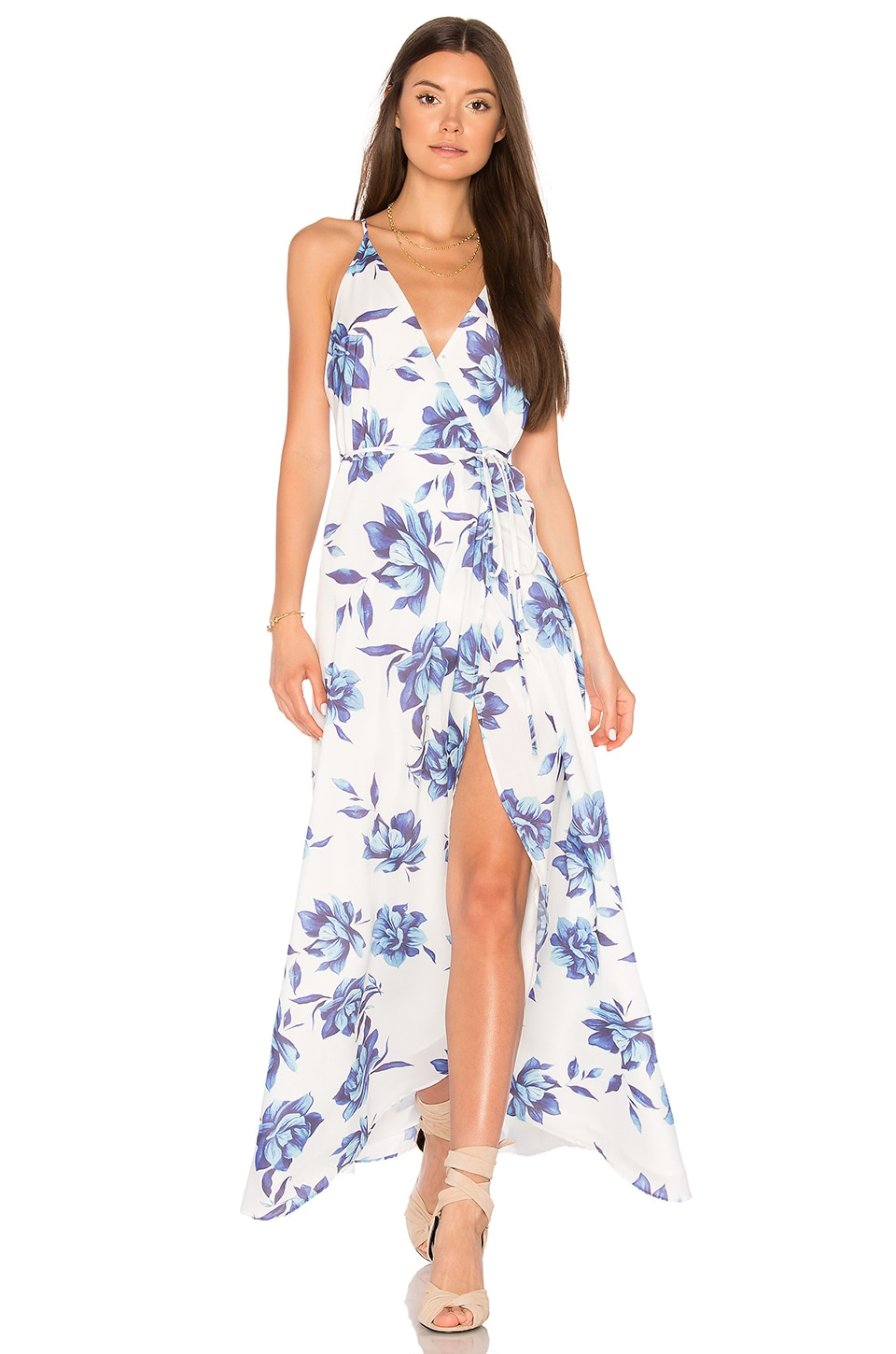 Yumi Kim Rush Hour Maxi Dress in Blue Bell