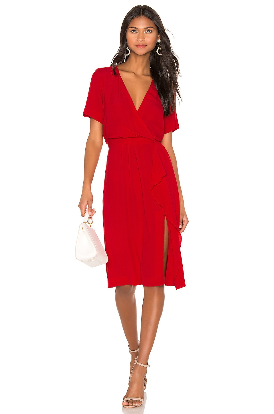 Yumi Kim Mimosa Dress in Scarlet