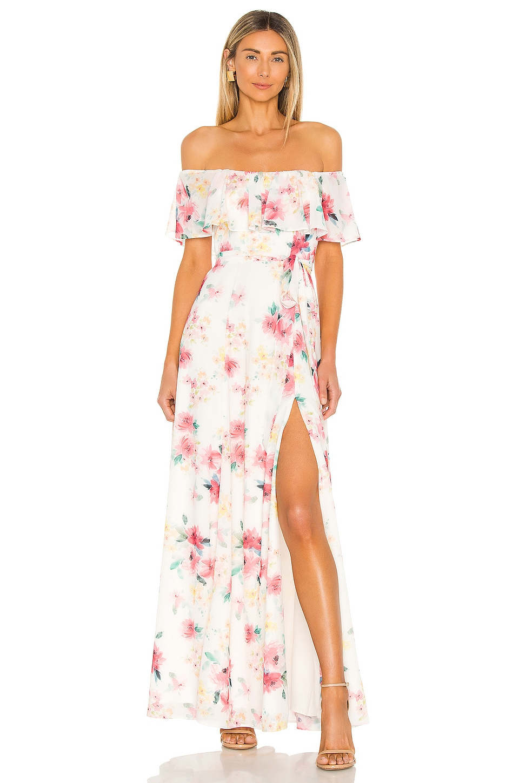 Yumi Kim Carmen Maxi Dress in Paradise Villa Ivory