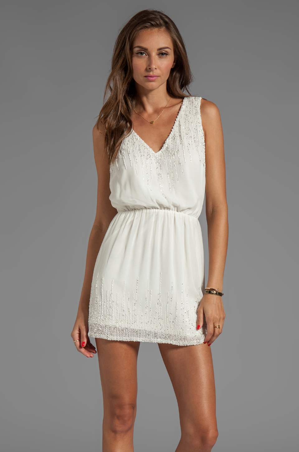 Yumi Kim Penelope Dress in White Combo