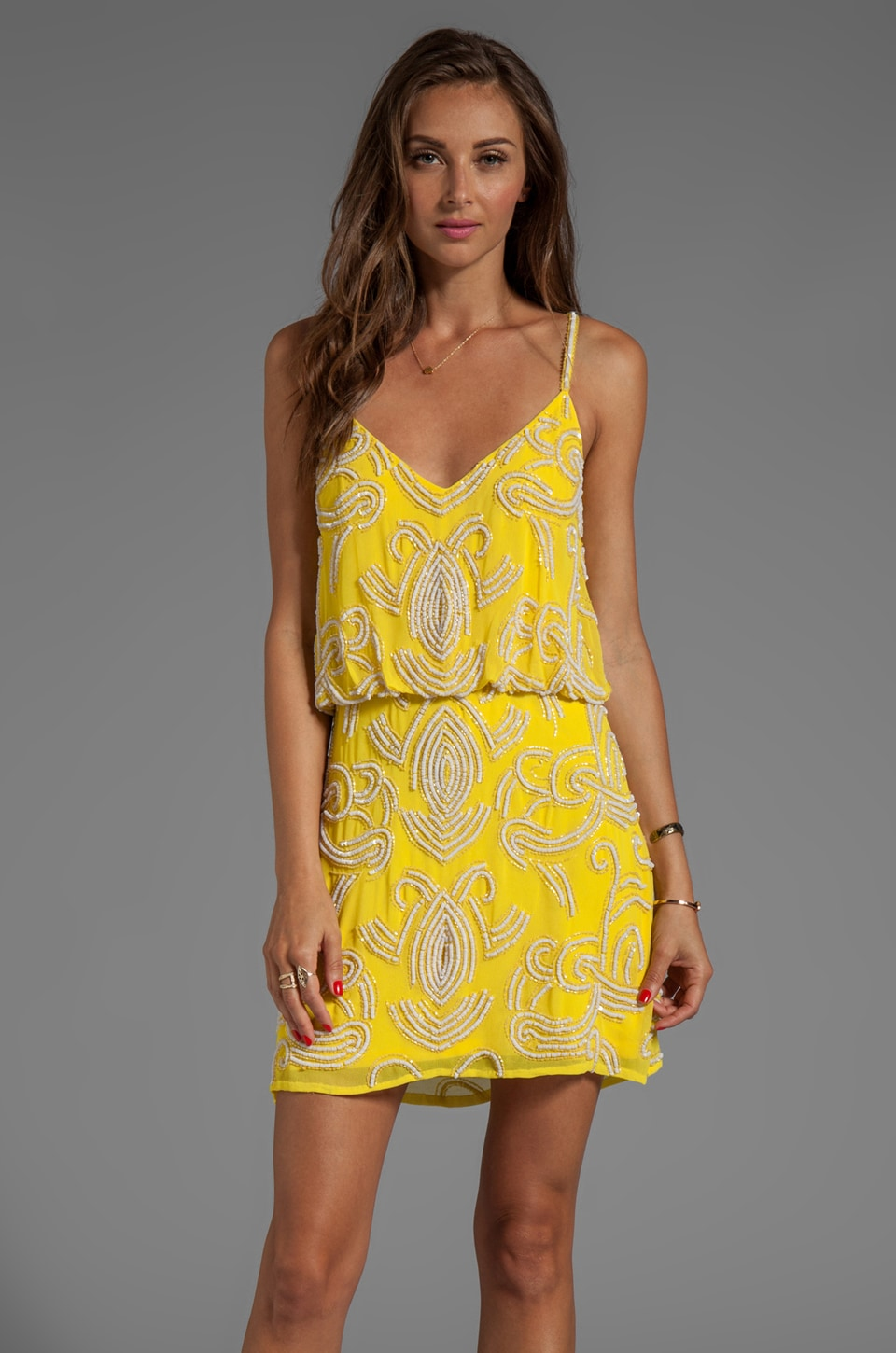 Yumi Kim Elsa Dress in Abstract Yellow