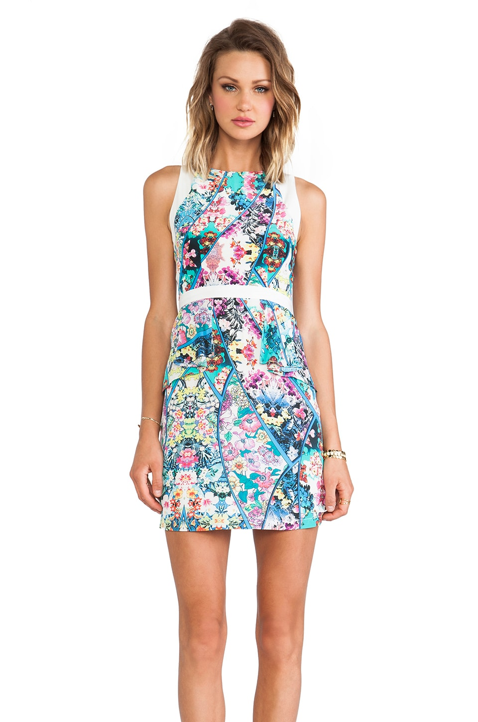 Yumi Kim Chrissy Dress in Aquamarine Kaleidoscope