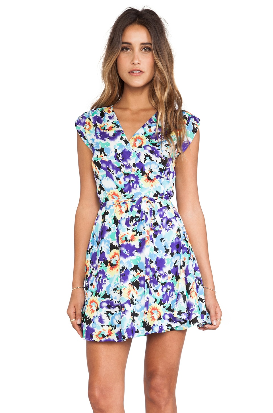 Yumi Kim Mini Wrap Dress in Vintage Starburst Print