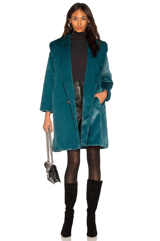 3d74d4a056 Yumi Kim Aspen Faux Fur Coat in Jewel Emerald | REVOLVE
