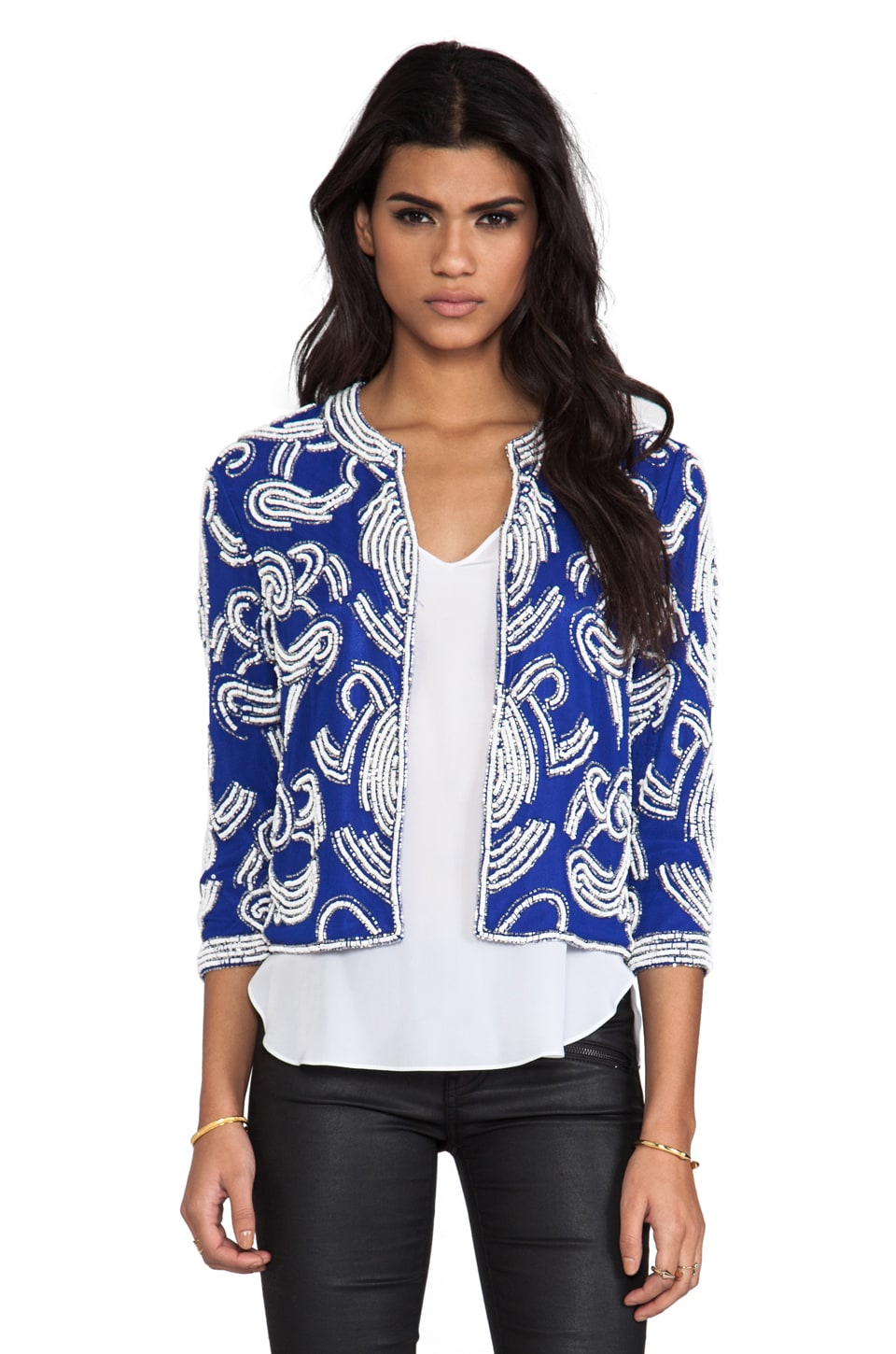 Yumi Kim Becca Jacket in Navy Abstract