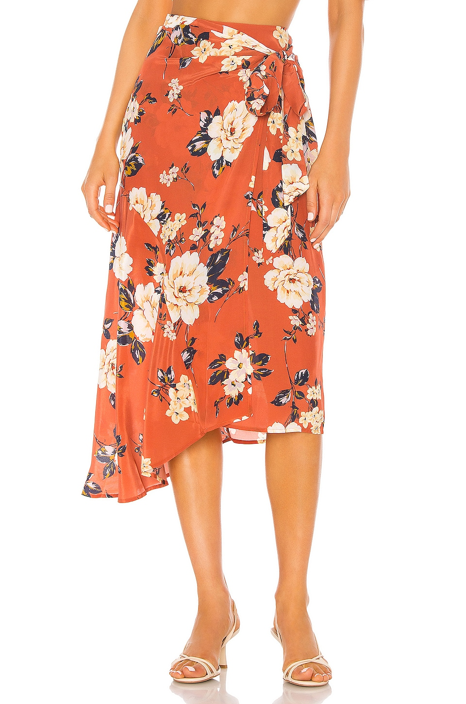 Yumi Kim Live It Up Skirt in Honey Rose Rust