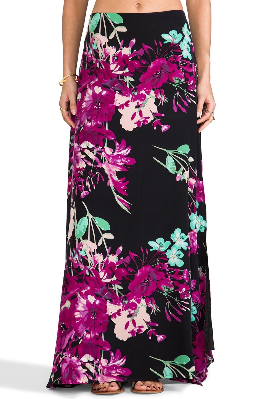 Yumi Kim Arial Maxi Skirt in Black Botanical