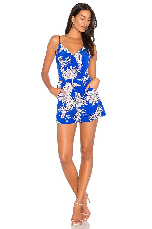 Yumi Kim Lea Romper en Tahiti Sunrise Royal Blue