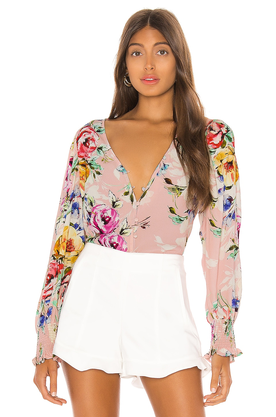 Yumi Kim Check Mate Blouse in Lovers Bouquet Pink