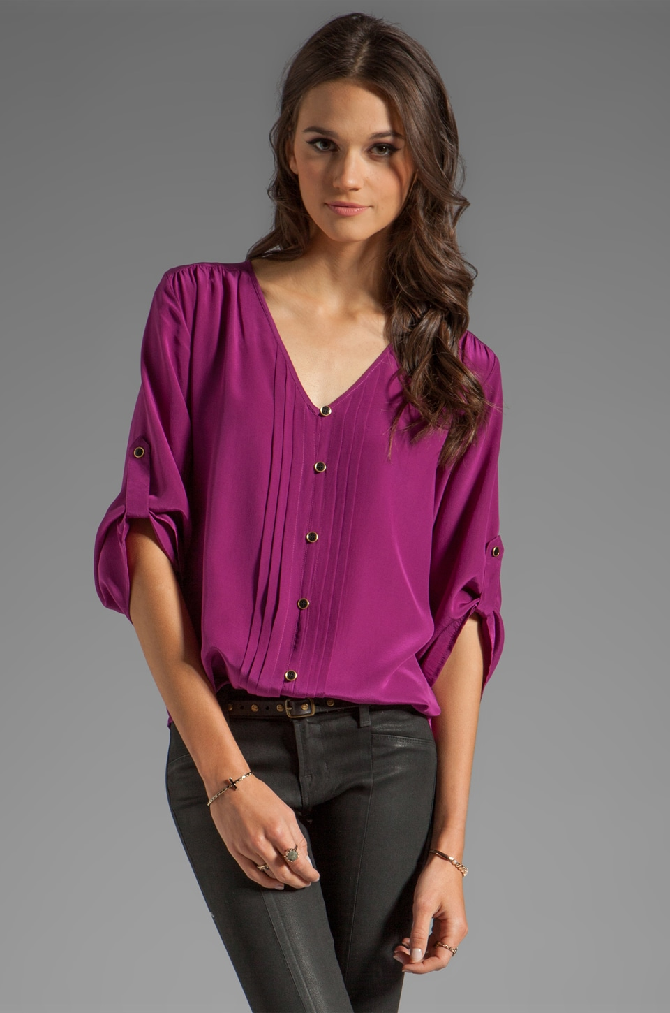 Yumi Kim Lizzie Top in Wine